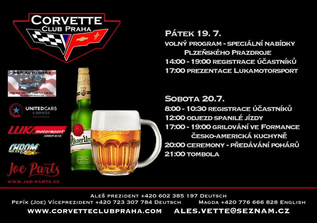 19. Mezinárodní sraz Corvette Club Praha - Program