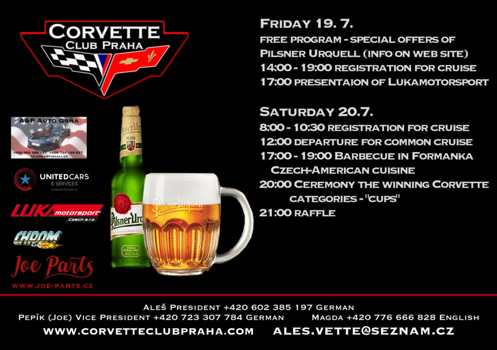 19th International Meeting of Corvette Club Praha - Program