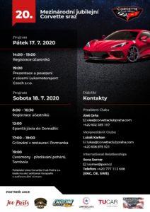 20. Mezinárodní výroční sraz Corvette Club Praha - Program