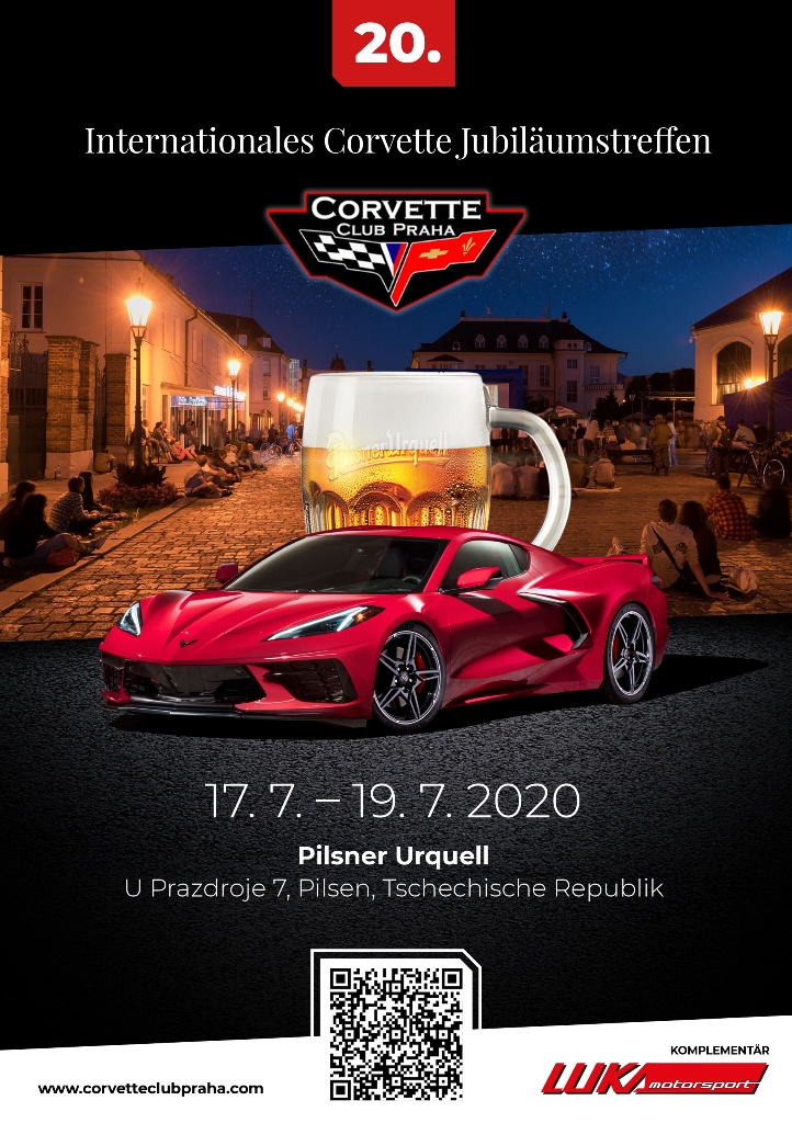 20. Internationale Jubiläumstreffen der Corvette Club Praha